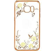 mariposa del diamante TPU suave flor jardín secreto para la serie Samsung Galaxy s