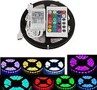 ZDM 5M Waterproof 300X5050 SMD RGB LED Strip Light  IP65 with 24Key Remote Controller (DC12V)