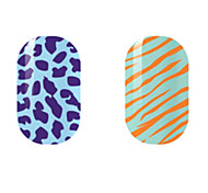 Purple/Orange Hollow Nail Stickers
