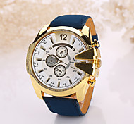 Men's Large Case Leather Band Analog Quartz Wrist Watch Cool Watch Unique Watch Fashion Watch