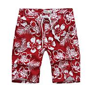 Lesmart Hommes Shorts / Ample Pantalon Rouge - LX13124