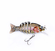 "MMlong 2.2"" Fishing Tip lure 6 Segment Life-Like Hard Bait Fishing Baits Slow Sinking Swimbait Crankbait MML13-M"