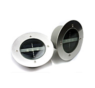 2pcs/lot Round Understand LED Solar Lamp Light Control 3 LEDs 3000K and 6000K