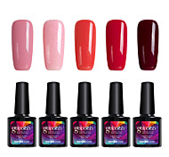 Modelones 5Pcs Gelpolish UV Gel Nail Polish Soak Off Gel Manicure Varnish Beauty Makeup C101