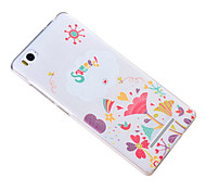 Relief Pattern Silicone Material Back Cover for Mi 4c