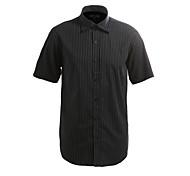 JamesEarl Men's Shirt Collar Short Sleeve Shirt & Blouse Taupe - M21X5000717