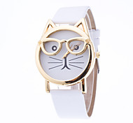 Women's European Style Cute Cartoon Cat Glasses Wrist Watches Cool Watches Unique Watches Fashion Watch