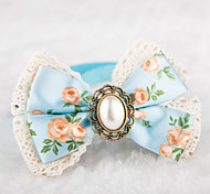 Cat / Dog Collar Adjustable/Retractable / Cute and Cuddly Blue / Pink Textile