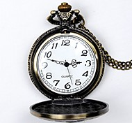 Unisex Pocket Watch Classic Retro Queen Mao Quartz Flip Pocket Watch