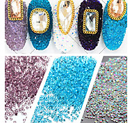 7000pcs/Lot,1.2cm Flat Back Nail Art decorations Non Hot Fix Glue on Rhinestones for nail jewelry