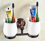 Suporte para Escova de Dentes / Gadget de Banheiro Dourada De Parede 8.3*3.1*4.5 inch Latão Neoclássico