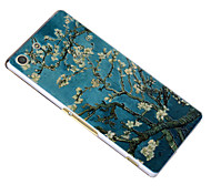 3D Relief Graphic Pattern Fashion PC Material Back Cover for Sony Xperia M5