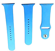 38MM M / L Metal Button For Apple Watch Strap Silicone Band