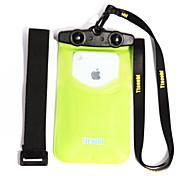 Caixas secos / Bolsas Impermeáveis Unissex Impermeável / Touch Screen / Celular Mergulho e Snorkeling Preta PVC