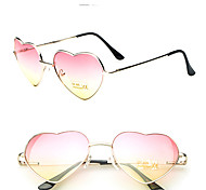Fashion Women Retro 2 Tones Color Heart Shape Sunglasses
