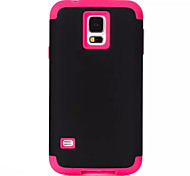 3-in-1 Phone Cases For Samsung Galaxy S5 i9600 Hard &Soft Rubber Hybrid Armor Case Cover