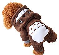 Perros Disfraces / Saco y Capucha / Accesorios Marrón Ropa para Perro Invierno Animal / Caricaturas