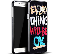 For Samsung Galaxy Case Pattern Case Back Cover Case Word / Phrase TPU Samsung A3(2016)