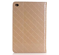 Unique Design Luxury Grid pattern PU Leather Case Flip Cover For Apple iPad Mini 4 Tablet With Card Slot