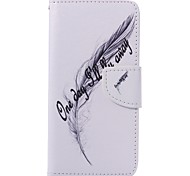 English Feather Painted PU Phone Case for Huawei P9/P9lite
