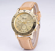 Women's Fashionable Leisure Geneva Quartz Watch Watch Leather Band Cool Watches Unique Watches
