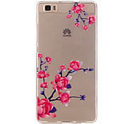 Para Funda Huawei / P9 / P9 Lite / P8 Lite Transparente Funda Cubierta Trasera Funda Flor Suave TPU HuaweiHuawei P9 / Huawei P9 Lite /