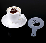 16pcs пластиковые фантазии приготовления кофе печати модель минималистский дизайн пыление накладка