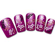 Snowflake/Leopard/Lace White/Black Flower 3D Nail Sticker