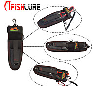 Afishlure Fishing Tool Bag Portable Lure Bag Multifunctional Pocket Put Fish Grips and Fishing Pliers Black