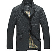 Lesmart Hombre Escote Chino Manga Larga Abajo y abrigos esquimales Negro / Gris - PW1340902M