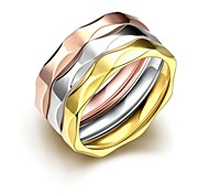 Simple Irregular Unisex's  Gold-Plated Titanium Steel Couple Rings(Golden,Rose Gold,Silver)(1Pc)