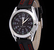 Masculino Assista Quartz Relógio de Moda Relógio Casual Couro Banda Relógio de Pulso