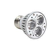 3W GU10 / E26/E27 LED Spotlight MR16 3 High Power LED 220 lm Warm White Dimmable AC 220-240 V
