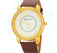 Jubaoli JB1081 Luxury Crystal Leather Band Wrist Quartz Watches for Ladies' Fahion Gift Design Cool Watches Unique Watches
