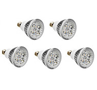 5pcs E14 6W 500LM Warm/Natural/Cool White LED Spotlight AC 220-240V