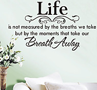 Wall Stickers Wall Decals, Words & Quotes Life PVC Wall Sticker