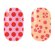 Red Hollow Nail Stickers