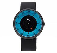Men's Wrist watch Unique Creative Watch Quartz Silicone Band Unique Creative Black Brand