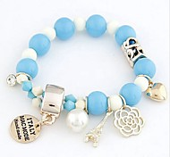 New Arrival Bohemian Acrylic Eiffel Heart Strand Bracelets Daily / Casual 1pc Hot Sale