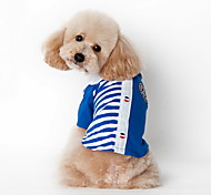 Dog Shirt / Clothes/Clothing Red / Blue Summer Stripe Striped-Lovoyager