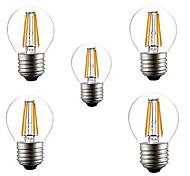5pcs HRY® G45 4W E27 400LM 360 Degree Warm/Cool White Color Edison Filament Light LED Filament Lamp (AC220V)