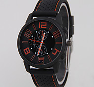 Men's Explosion Models Fashion Silicone Car Line  No Shadow GT Sports Car Watch(Assorted Colors) Wrist Watch Cool Watch Unique Watch