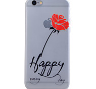 TPU Material Glow in the Dark Translucent Rose Relief Soft Protection Phone Case for iPhone 5/5S/SE