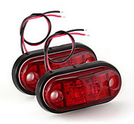 2 x Car Truck Trailer Piranha LED Side Marker Blinker Light Lamp Bulb Red