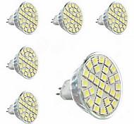GU5.3(MR16) Lâmpadas de Foco de LED MR16 29 SMD 5050 440lm lm Branco Quente Decorativa AC 220-240 V 6 pçs