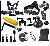 20pcs In 1 Accessori GoPro Montaggio / Con bretelle / Accessori Kit Per Tutti Galleggiante / ImpermeabileWakeboarding / Others /