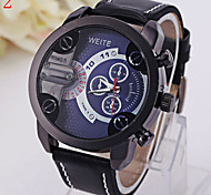 Men's Casual Fashionable Outdoor Leisure Sports Watch Leather Band Wrist Watch Cool Watch Unique Watch