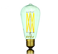 E26 E27 B22  110V 220V ST64 2200K-3000K 300-550lm 5W 6LED Light Bulb Edison