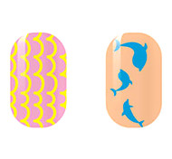 Yellow/Blue Hollow Nail Stickers