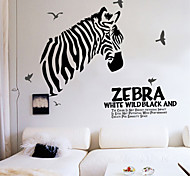 Wall Stickers Wall Decals, Zebra & Words PVC Wall Sticker